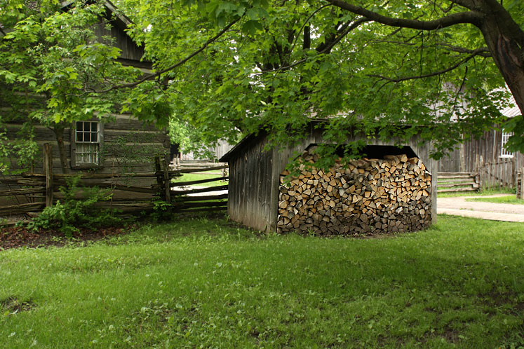 Toronto Photos :: Black Creek Pioneer Village :: Black Creek Pioneer Village - a woodshed