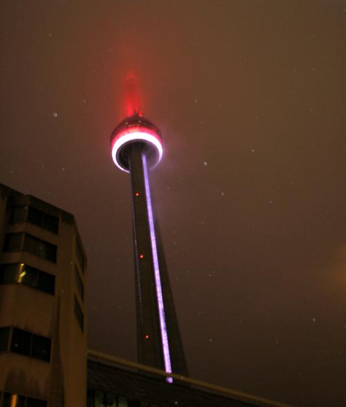 World Travel Photos :: Night views :: CN Tower at night