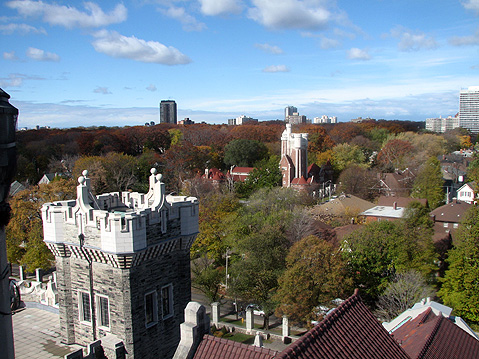 Toronto Photos :: Casa Loma :: Toronto. View from the Top of Casa Loma Castle