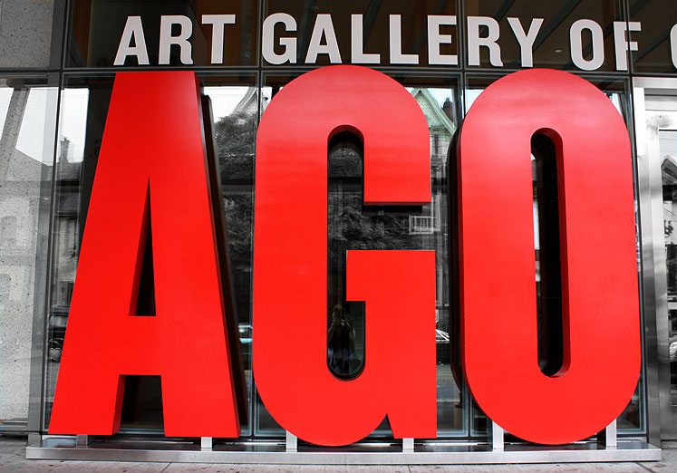 World Travel Photos :: Colors - Rouge :: Art Gallery of Ontario entrance