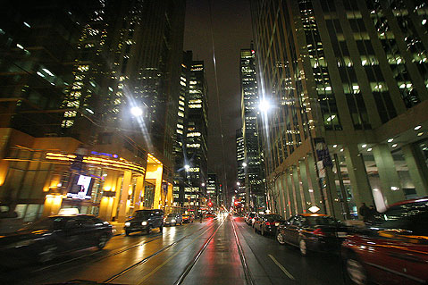 Toronto Photos :: Night views :: Toronto. City centre at night