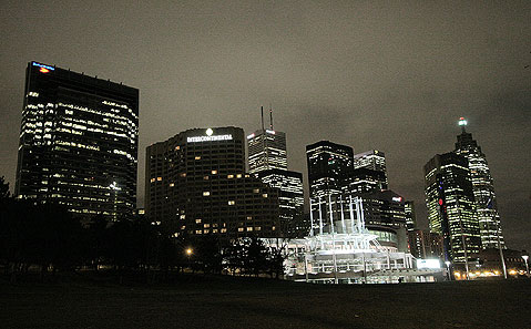Toronto Photos :: Panoramic views :: Toronto. Lights of downtown