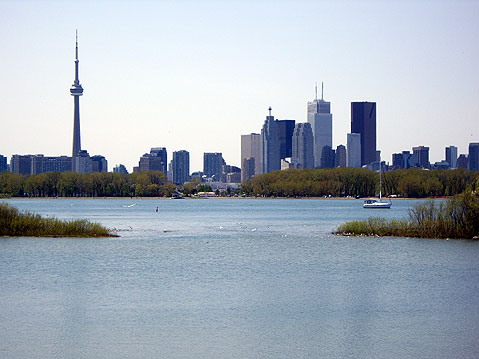 Toronto Photos :: Panoramic views :: Toronto. View on Downtown from the East Side