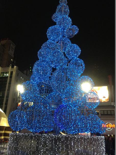 World Travel Photos :: Christmas :: Toronto. A Christmas Tree at Dundas Square