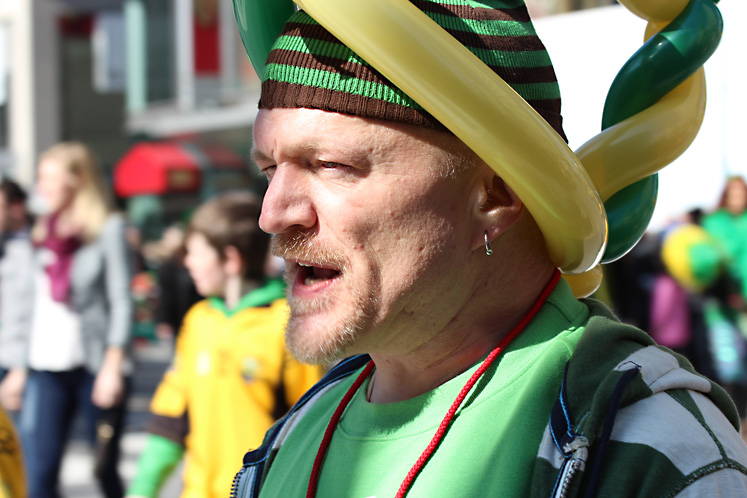 Toronto Photos :: Sergey-Tishin :: A participant of St. Patrick´s Day parade in Toronto
