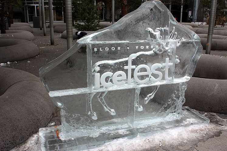 Toronto Photos :: Toronto Ice Fest 2012 :: Yorkville Ice Fest 2012 - a walking moose in an ice cube