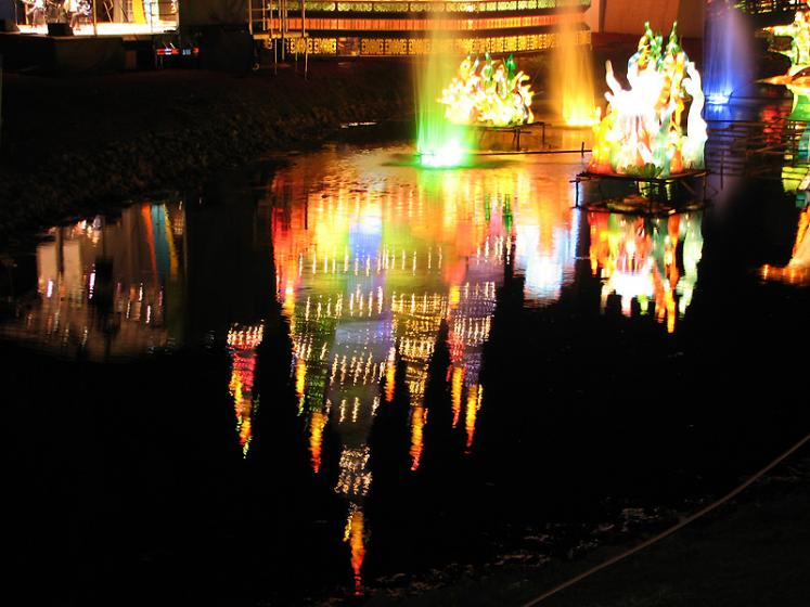 World Travel Photos :: Reflections :: Rogers Chinese Lantern Festival 2008 - reflection