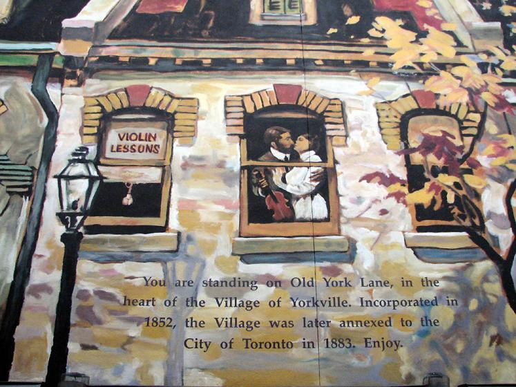 Toronto Photos :: Wall Murals & Graffiti :: Yorkville - the heart of Yorkville