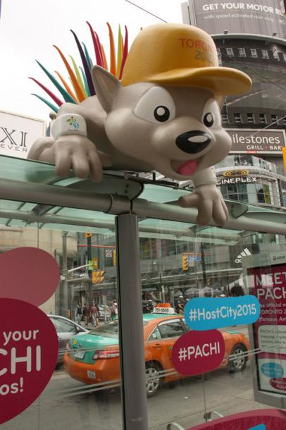 Toronto Photos :: Torontonian :: A symbol of Pan Am games in Toronto on Dundas Square